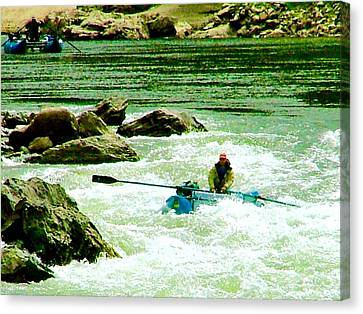 Salmon River Rafting Canvas Print by Brent Sisson