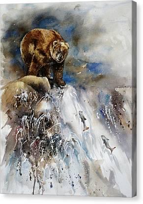 Salmon Run Canvas Print by Mary McCullah
