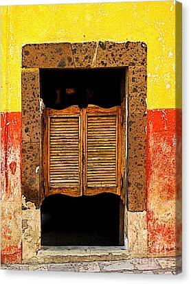 Saloon Door 1 Canvas Print by Mexicolors Art Photography