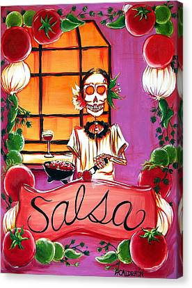 Salsa Canvas Print by Heather Calderon