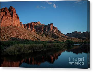 Salt River Reflections Canvas Print by Chandra Nyleen