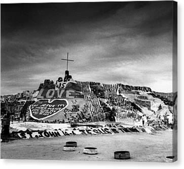 Salvation Mountain Canvas Print by Alex Snay