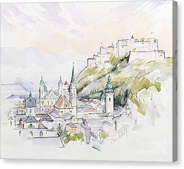 Salzburg Sunrise  Canvas Print by Clive Metcalfe