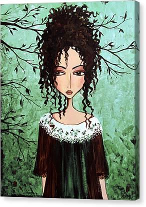 Samantha's Chocolate Tree Canvas Print by Debbie Horton