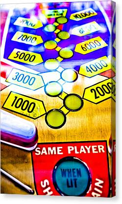 Same Player - Jet Spin Pinball Machine Canvas Print by Colleen Kammerer