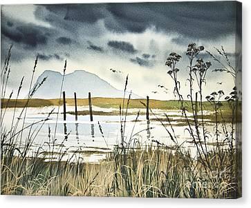 Samish Bay Shore Canvas Print by James Williamson