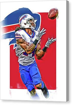 Sammy Watkins Buffalo Bills Oil Art Canvas Print by Joe Hamilton