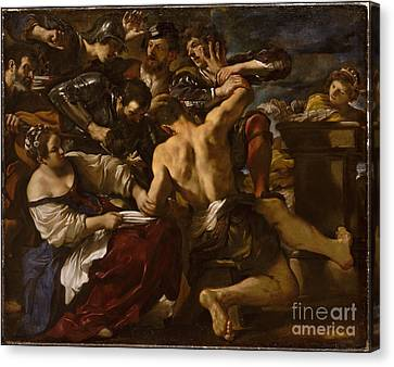 Samson Captured Canvas Print by Celestial Images