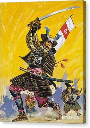 Samurai Warriors Canvas Print by English School