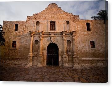 San Antonio Alamo At Sunrise Canvas Print by Samuel Kessler