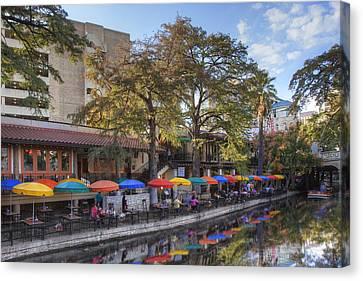 San Antonio Texas Riverwalk 1 Canvas Print by Rob Greebon