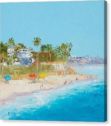 San Clemente Beach Canvas Print by Jan Matson