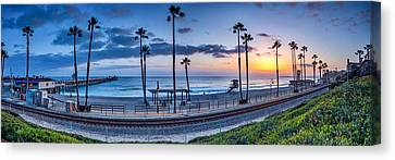 San Clemente In Pano Canvas Print by Peter Tellone