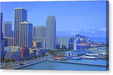 San Francisco Bay  Canvas Print by Julie Lueders