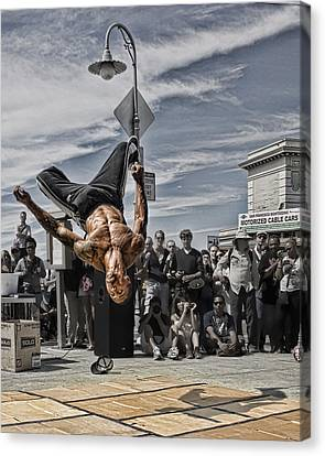 San Francisco Breakdancer Canvas Print by Rich Beer