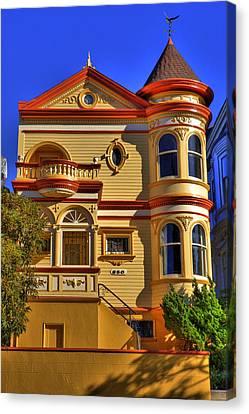 San Francisco Victorian Canvas Print by Paul Owen