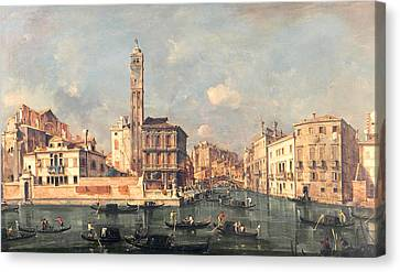 San Geremia And The Entrance To The Canneregio Canvas Print by Francesco Guardi