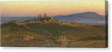 San Gimignano, 1898 Canvas Print by Edith Ridley Corbet