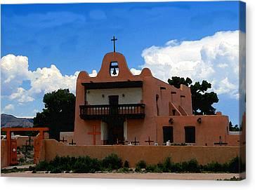 San Ildefonso Pueblo Canvas Print by David Lee Thompson