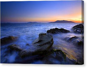 San Juan Sunset Canvas Print by Mike  Dawson