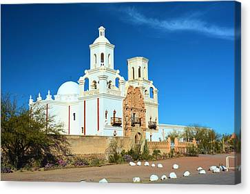 San Savier Mission Tucson Canvas Print by Richard Jenkins