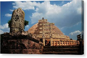 Sanchi Stupa  Canvas Print by Mohammed Nasir