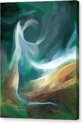 Sand And Sea Canvas Print by Carol Cavalaris