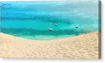 Sand And Sea - Da Canvas Print by Leonardo Digenio