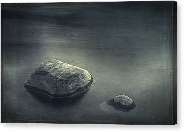 Sand And Water Canvas Print by Scott Norris