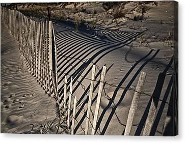 Sand Fence Canvas Print by Joel P Black
