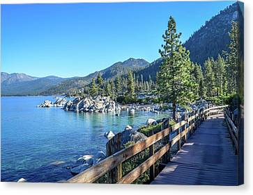 Sand Harbor Boardwalk Canvas Print by Randy Dyer