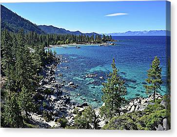 Sand Harbor Canvas Print by Randy Dyer