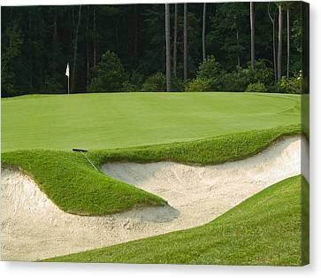 Sand Trap Canvas Print by Andrew Kazmierski