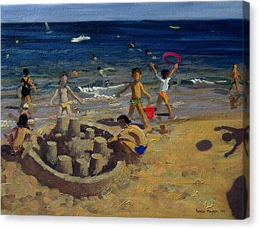 Sandcastle Canvas Print by Andrew Macara