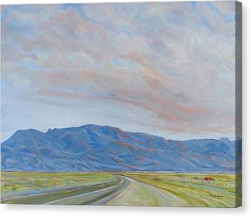Sandia Sunset Canvas Print by Jo Anne Neely Gomez