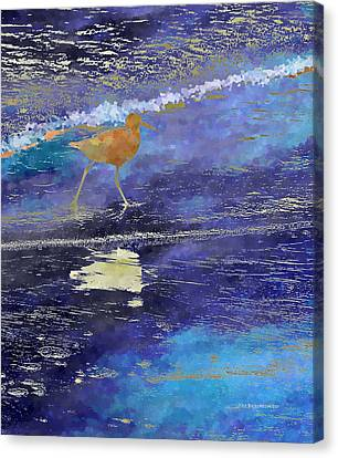 Sandpiper Canvas Print by Wally Boggus