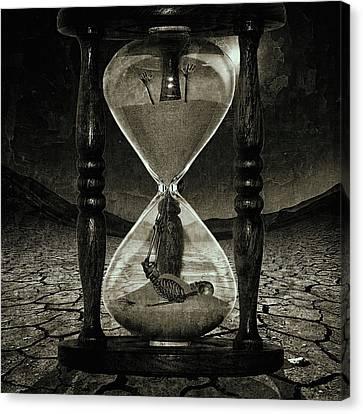 Sands Of Time ... Memento Mori - Monochrome Canvas Print by Marian Voicu
