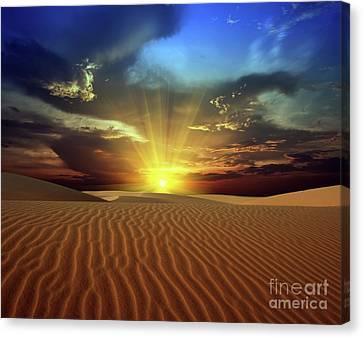 Sandy Desert Canvas Print by MotHaiBaPhoto Prints
