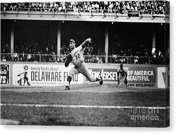Sandy Koufax (1935- ) Canvas Print by Granger