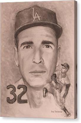 Sandy Koufax Canvas Print by Jack Skinner