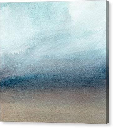 Sandy Shore- Art By Linda Woods Canvas Print by Linda Woods