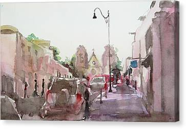 Sanfransisco Street Canvas Print by Becky Kim
