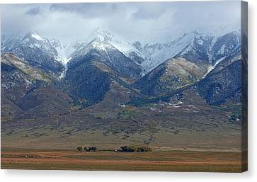 Sangre De Cristo First Snow Canvas Print by Merja Waters