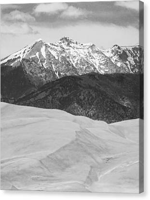 Sangre De Cristo Mountains And The Great Sand Dunes Bw V Canvas Print by James BO  Insogna