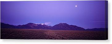 Sangre De Cristo Mountains At Sunset Canvas Print by Panoramic Images