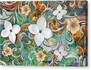 Sangria Flora Canvas Print by Christopher Beikmann
