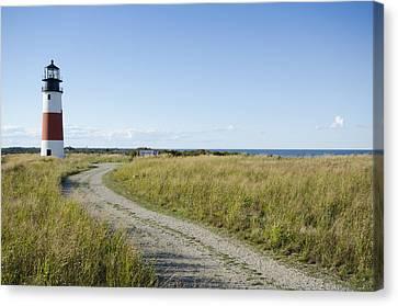 Sankaty Head Lighthouse, Nantucket Canvas Print by Jack Flash