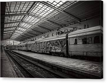 Santa Apolonia Railway Station Lisbon Canvas Print by Carol Japp