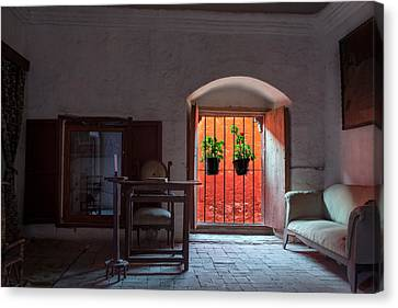Santa Catalina Monastery Window Canvas Print by Jess Kraft