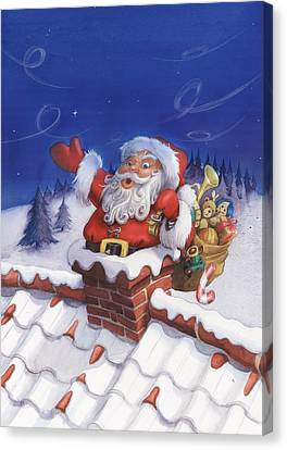 Santa Chimney Canvas Print by Andy Catling